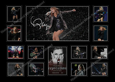 Taylor Swift Signed 2018 Reputation Tour Limited Edition A4 Photo Print • 7.89£