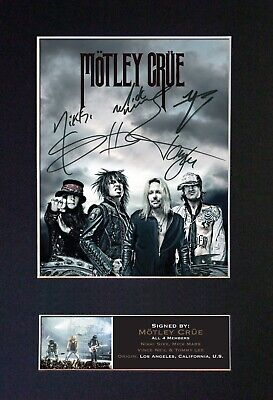 MOTLEY CRUE Mounted Signed Autograph Photo Print A4 #783 • 18.99£