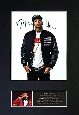 NIPSEY HUSSLE Mounted Signed Autograph Photo Print A4 #782 • 18.99£