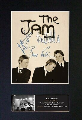 THE JAM Mounted Signed Autograph Photo Print A4 #709 • 5.95£