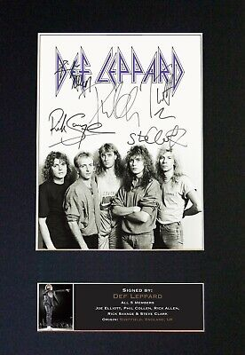 DEF LEPPARD Mounted Signed Autograph Photo Print A4 #695 • 18.99£