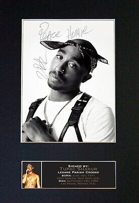 TUPAC Mounted Signed Autograph Photo Print A4 #664 • 5.95£