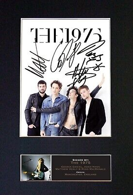 THE 1975 Mounted Signed Autograph Photo Print A4 #658 • 5.95£