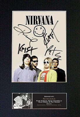 NIRVANA Mounted Signed Autograph Photo Print A4 #655 • 18.99£