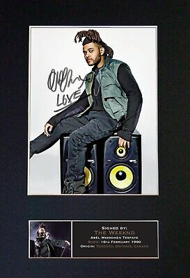 THE WEEKND Mounted Signed Autograph Photo Print A4 #636 • 5.95£