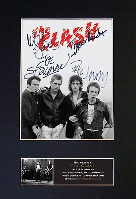 THE CLASH Mounted Signed Autograph Photo Print A4 #608 • 18.99£