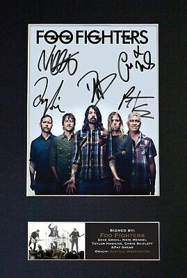 FOO FIGHTERS No2 Mounted Signed Autograph Photo Print A4 #597 • 17.99£
