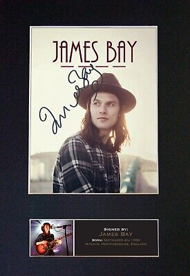 JAMES BAY Mounted Signed Autograph Photo Print A4 #568 • 5.95£
