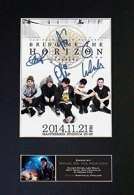 BRING ME THE HORIZON Mounted Signed Autograph Photo Print A4 #559 • 17.99£