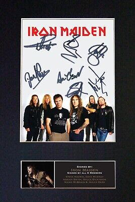 IRON MAIDEN Mounted Signed Autograph Photo Print A4 #542 • 18.99£