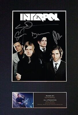 INTERPOL Mounted Signed Autograph Photo Print A4 #533 • 5.95£