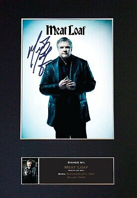 MEAT LOAF Mounted Signed Autograph Photo Print A4 #507 • 18.99£