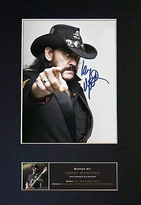 LEMMY KILMINSTER Mounted Signed Autograph Photo Print A4 #480 • 18.99£