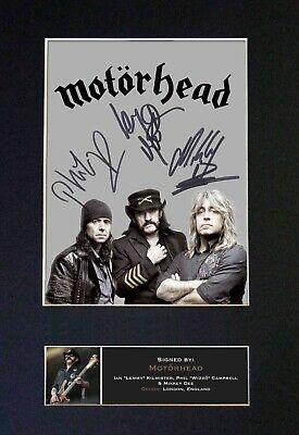MOTORHEAD Mounted Signed Autograph Photo Print A4 #472 • 18.99£