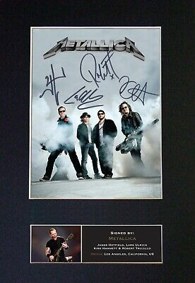 METALLICA Mounted Signed Autograph Photo Print A4 #470 • 18.99£
