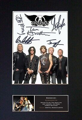 AEROSMITH Mounted Signed Autograph Photo Print A4 #463 • 18.99£