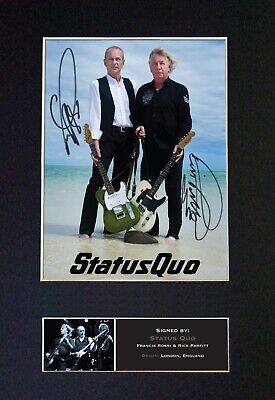 STATUS QUO Mounted Signed Autograph Photo Print A4 #456 • 17.99£