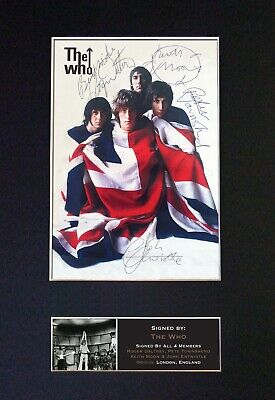 THE WHO Mounted Signed Autograph Photo Print A4 #448 • 17.99£