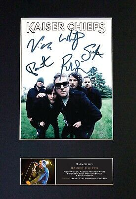 KAISER CHIEFS Mounted Signed Autograph Photo Print A4 #447 • 17.99£