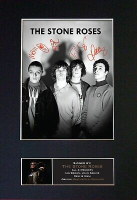 STONE ROSES Mounted Signed Autograph Photo Print A4 #380 • 18.99£