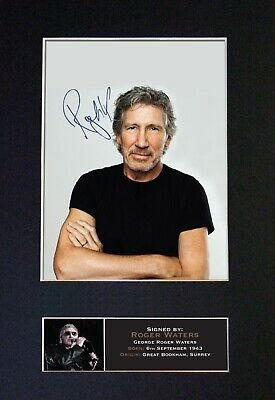 ROGER WATERS Mounted Signed Autograph Photo Print A4 #377 • 5.95£