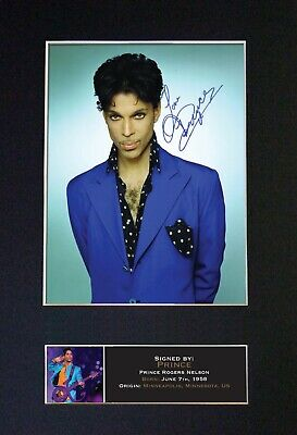 PRINCE Mounted Signed Autograph Photo Print A4 #376 • 5.95£