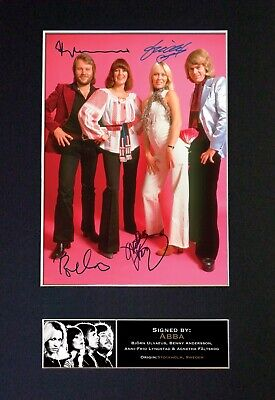 ABBA Mounted Signed Autograph Photo Print A4 #371 • 5.95£