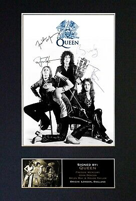 QUEEN Mounted Signed Autograph Photo Print A4 #327 • 5.95£