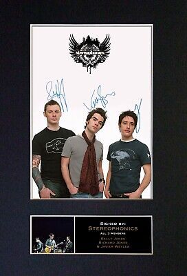 STEREOPHONICS Mounted Signed Autograph Photo Print A4 #318 • 17.99£