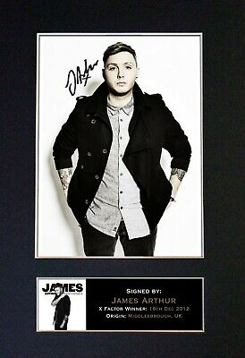 JAMES ARTHUR Mounted Signed Autograph Photo Print A4 #302 • 5.95£