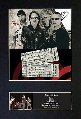 U2 Mounted Signed Autograph Photo Print A4 #199 • 18.99£