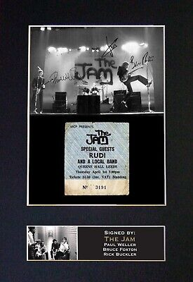 THE JAM Mounted Signed Autograph Photo Print A4 #187 • 5.95£