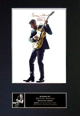 BRYAN ADAMS Mounted Signed Autograph Photo Print A4 #171 • 5.95£