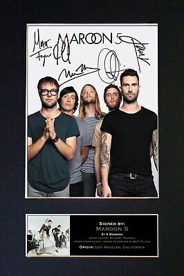 MAROON 5 Mounted Signed Autograph Photo Print A4 #125 • 5.95£