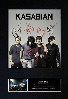 KASABIAN Mounted Signed Autograph Photo Print A4 #119 • 18.99£
