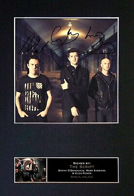 THE SCRIPT Mounted Signed Autograph Photo Print A4 #113 • 5.95£