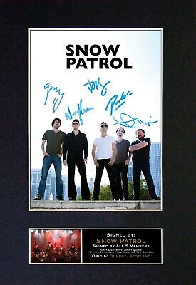 SNOW PATROL Mounted Signed Autograph Photo Print A4 #111 • 5.95£