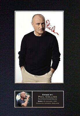 PHIL COLLINS Mounted Signed Autograph Photo Print A4 #99 • 5.95£