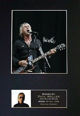 PAUL WELLER Mounted Signed Autograph Photo Print A4 #88 • 5.95£