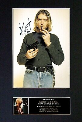 KURT COBAIN Nirvana Mounted Signed Autograph Photo Print A4 #76 • 18.99£