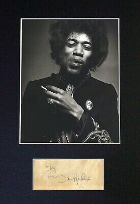 JIMI HENDRIX Mounted Signed Autograph Photo Print A4 #59 • 18.99£
