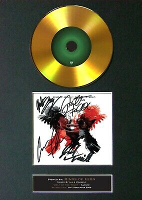KINGS OF LEON Only By Night Mounted Signed Autograph GOLD CD Print A4 #188 • 19.99£