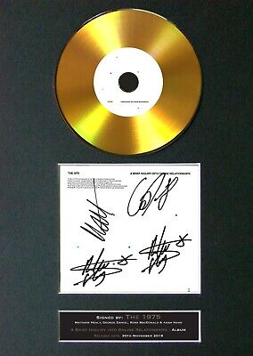 THE 1975 A Brief Inquiry Mounted Signed Autograph GOLD CD Print A4 #178 • 19.99£