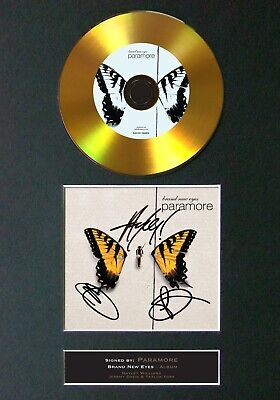 PARAMORE Brand New Eyes Mounted Signed Autograph GOLD CD Print A4 #119 • 19.99£