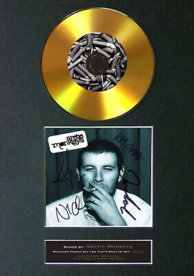 ARCTIC MONKEYS Whatever People Say Mounted Signed Autograph GOLD CD Print A4 #92 • 20.99£