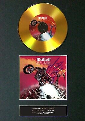 MEAT LOAF Bat Out Of Hell Mounted Signed Autograph GOLD CD Print A4 #89 • 20.99£