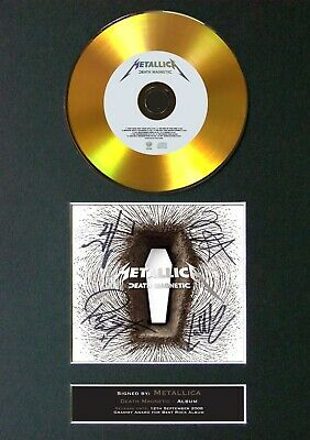 METALLICA Death Magnetic Mounted Signed Autograph GOLD CD Print A4 #78 • 19.99£