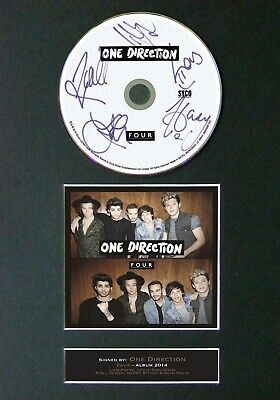 ONE DIRECTION 1D Four Mounted Signed Autograph CD Print A4 #63 • 8.49£