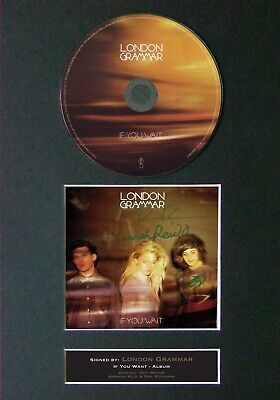 LONDON GRAMMAR If You Wait Mounted Signed Autograph CD Print A4 #58 • 19.99£