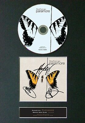 PARAMORE Brand New Eyes Mounted Signed Autograph CD Print A4 #48 • 19.99£